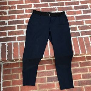 Blank handed navy blue dress ankle pant